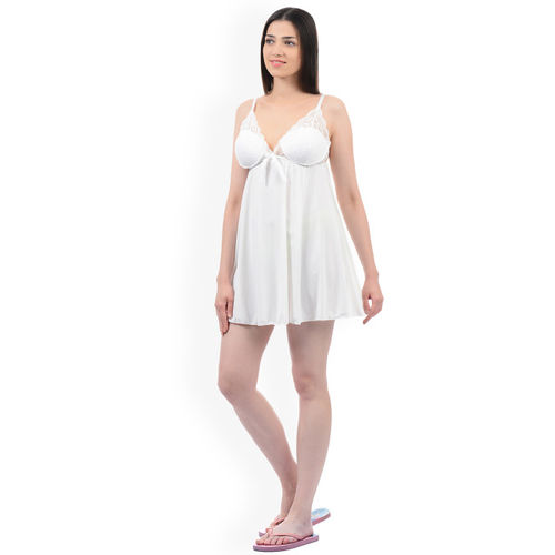 Sweet Dreams White Solid Baby Doll BD1518
