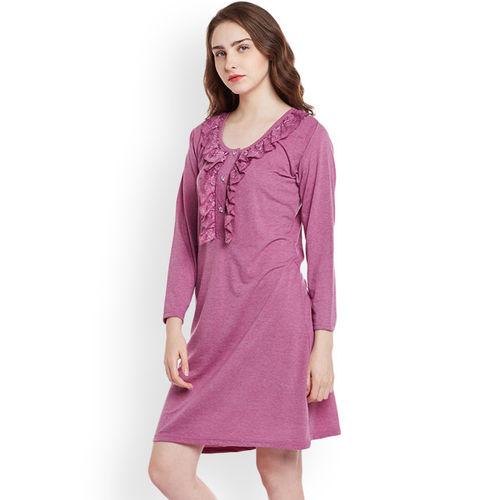 Claura Women Nighty(Purple)