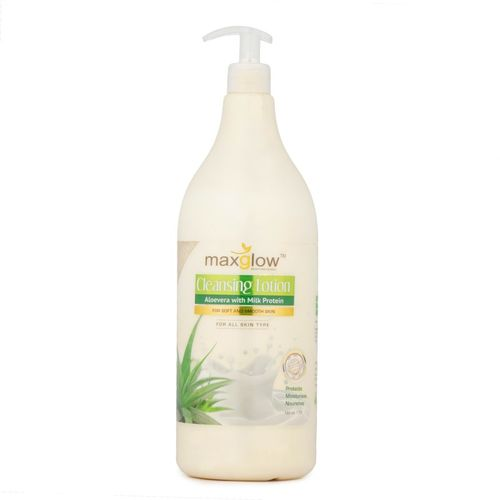 MAXGLOW ALOE VERA WITH MILK PROTEIN CLEANSING LOTION - 1500 ML(1500 ml)