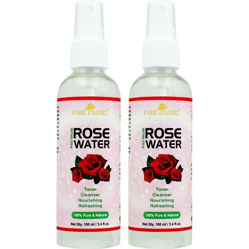 Park Daniel Organic Rose Water - For Toner, Cleanser, Nourishing & Refreshing Purposes combo of 2 bottles of 100 ml(200 ml)(200 ml)