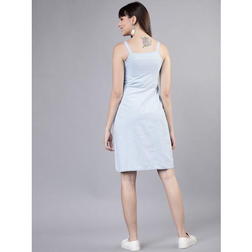 Tokyo Talkies Women Blue Fit and Flare Dress