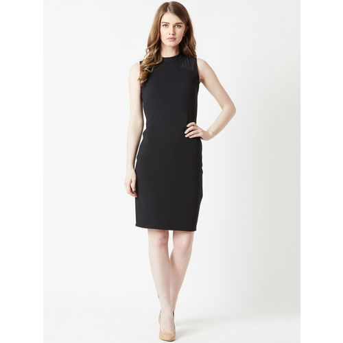 Miss Chase Women Black Bodycon Dress