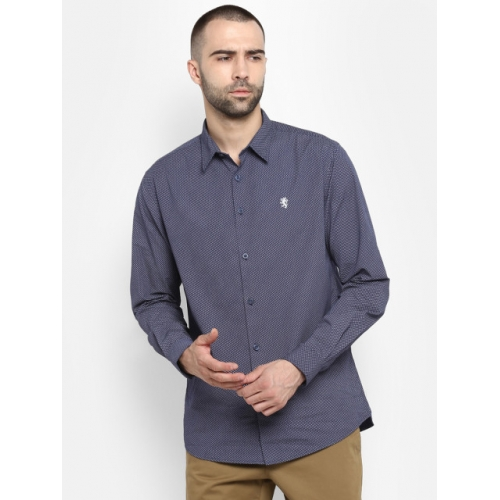 Red Tape Men Navy Blue Regular Fit Printed Casual Shirt