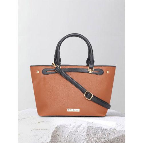 Mast & Harbour Brown Solid Handheld Bag