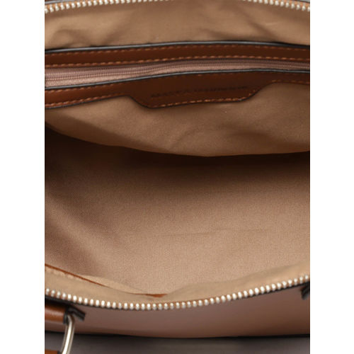 Mast & Harbour Brown Solid Handheld Bag