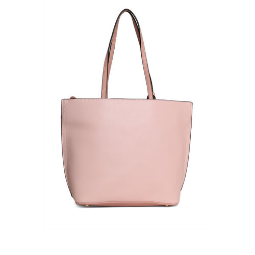 United Colors of Benetton Pink & White Colourblocked Shoulder Bag