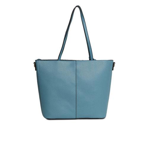 United Colors of Benetton Teal Blue Solid Shoulder Bag