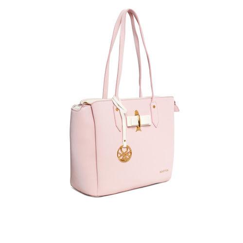 United Colors of Benetton Pink Solid Shoulder Bag