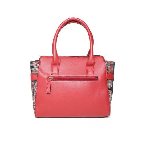 Lavie Red & Black Checked Handheld Bag