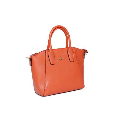 Lavie Orange Solid Handheld Bag