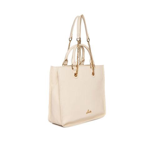 Lavie Beige Textured Handheld Bag