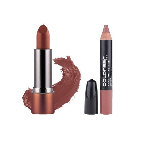 Colorbar Set of 2 Glory Glitter Me All Moonwalker & Bare Dare Pink Lipsticks