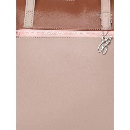 Baggit Peach-Coloured Solid Shoulder Bag