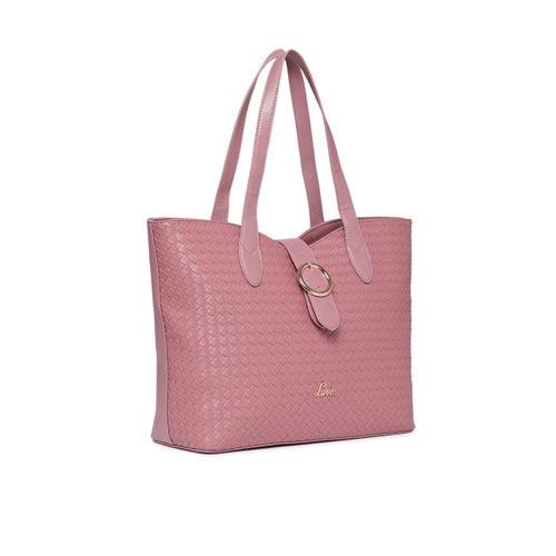 Lavie Pink Textured Shoulder Bag