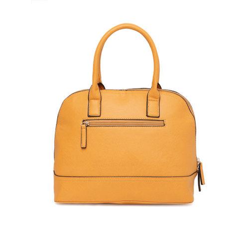 Lavie Women Mustard Yellow Solid Handheld Bag