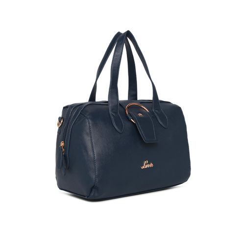 Lavie Navy Blue Solid Handheld Bag