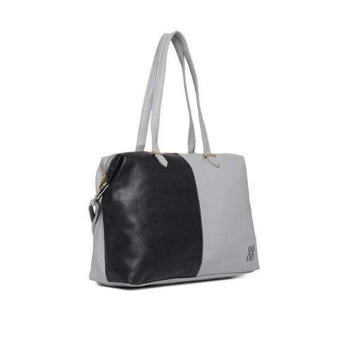 Baggit Grey & Black Colourblocked Shoulder Bag