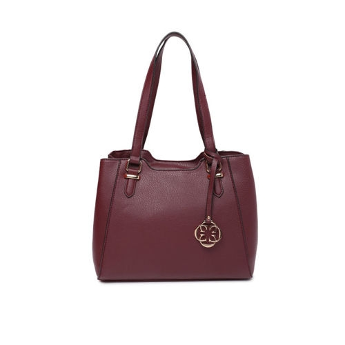 CERIZ Burgundy Solid Shoulder Bag