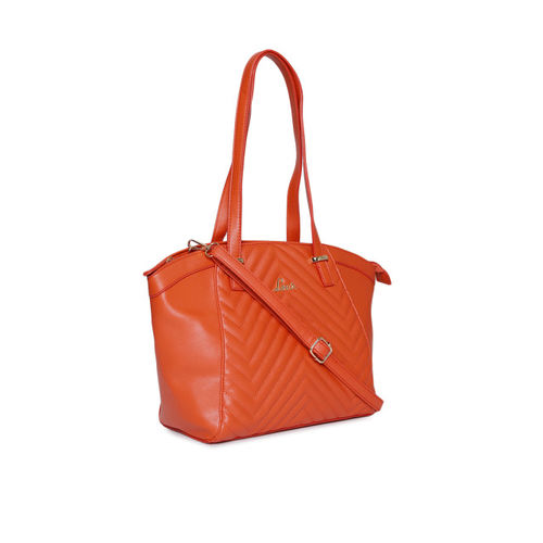 Lavie Women Orange Textured Shoulder Bag