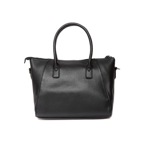 Caprese Black Solid Handheld Bag