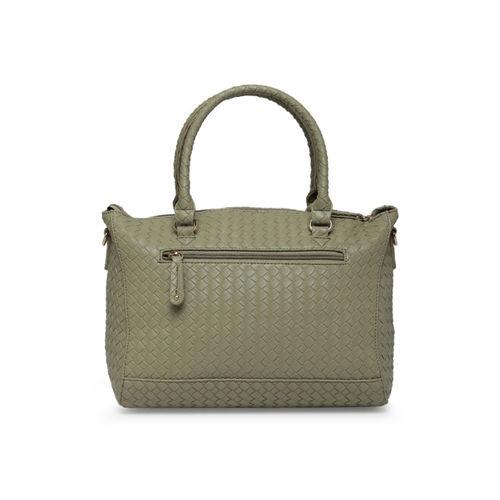 Caprese Green Textured Handheld Bag