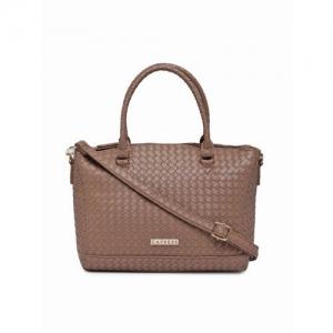 Caprese Brown Textured Handheld Bag