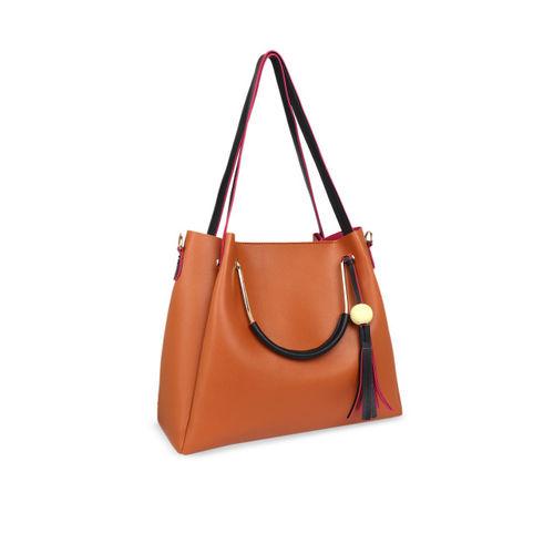 Lychee bags Tan Solid Shoulder Bag