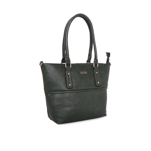 Elle Olive Green Solid Shoulder Bag