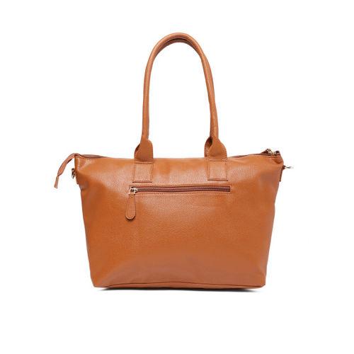 Lavie Tan Brown Solid Shoulder Bag