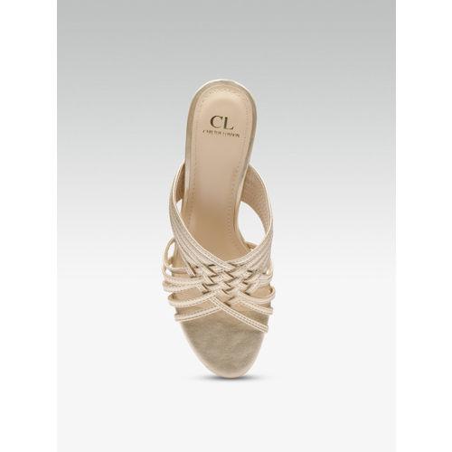 Carlton London Women Gold-Toned Heels