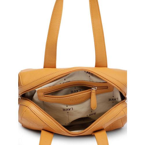 Lavie Yellow Solid Handheld Bag