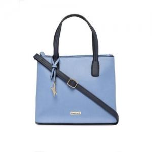Fastrack Blue Solid Handheld Bag