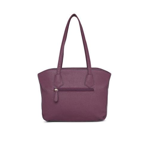 Lavie Purple Textured Handheld Bag
