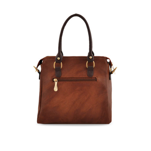 LaFille Tan Brown Solid Handheld Bag