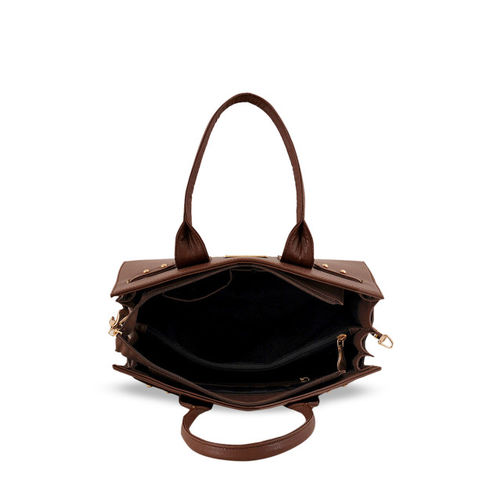 LaFille Brown Solid Handheld Bag