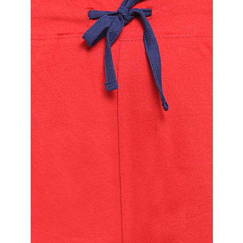 Slumber Jill Women Navy Blue & Red Printed Night suit FWSJ409