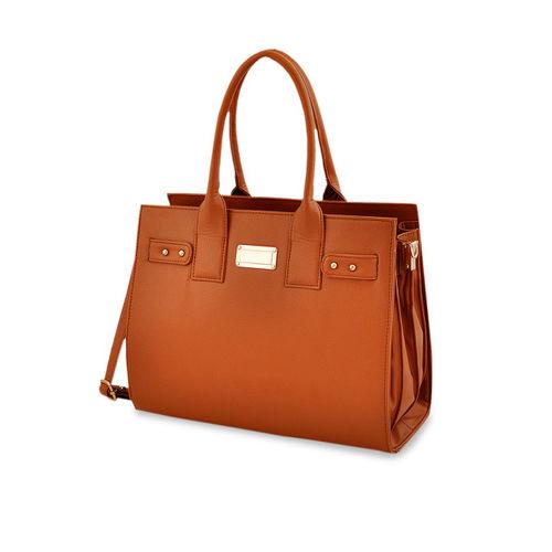 LaFille Tan Solid Handheld Bag
