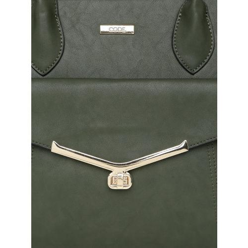 CODE by Lifestyle Olive Green Solid Shoulder Bag