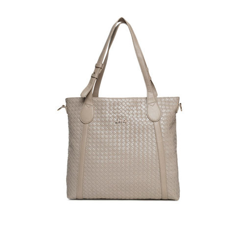 Lavie Beige Textured Shoulder Bag