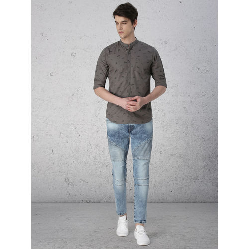 Ecko Unltd Men Grey Printed Casual Shirt