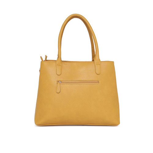 Lavie Yellow Solid Handheld Bag