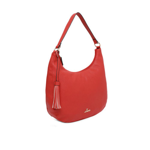Lavie Red Solid Hobo Bag