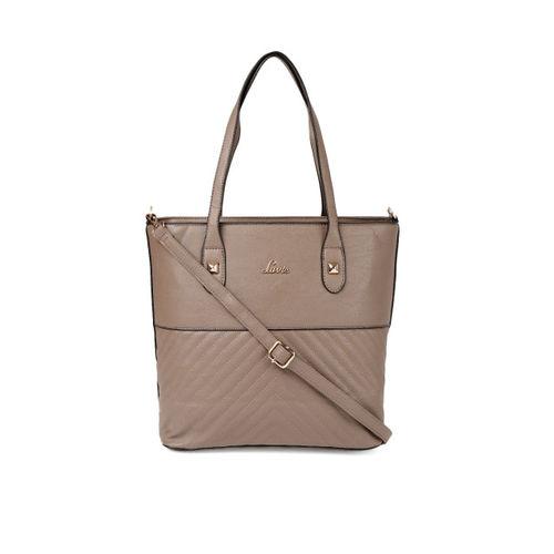 Lavie Taupe Textured Shoulder Bag