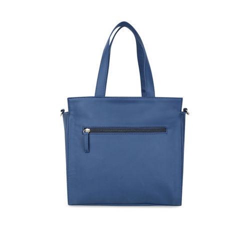 yelloe Women Blue Striped Handheld Bag