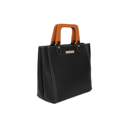 U.S. Polo Assn. Women Black Solid Handheld Bag