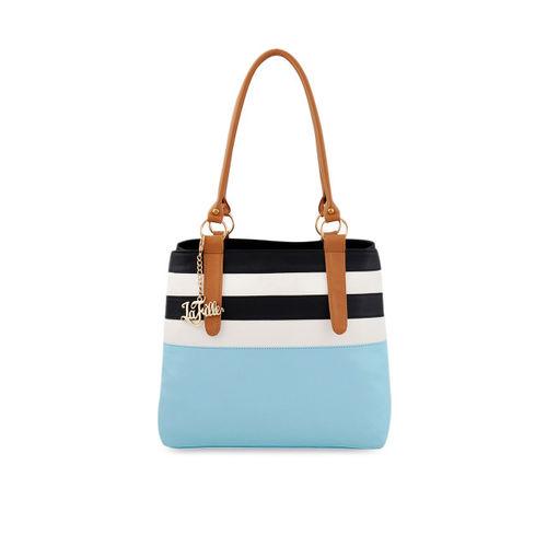 LaFille Women Blue Striped Shoulder Bag
