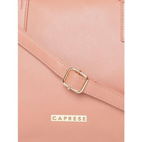 Caprese Peach-Coloured Solid Shoulder Bag