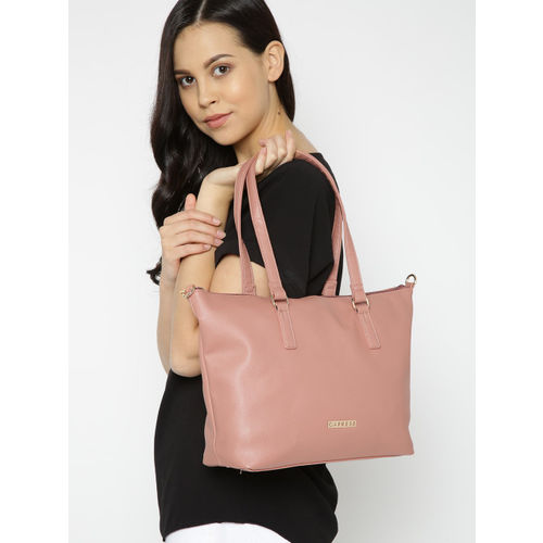 Caprese Peach-Coloured Solid Shoulder Bag