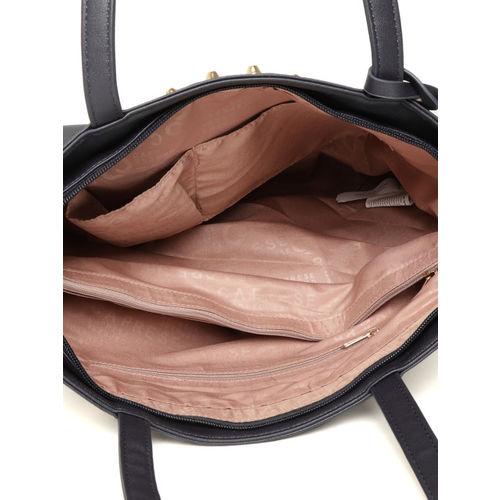 Caprese Navy Blue Solid Shoulder Bag