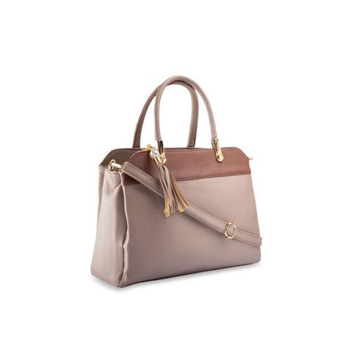 LEGAL BRIBE Beige & Brown Colourblocked Handheld Bag